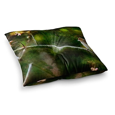 East Urban Home Painted Songbird by Ginkelmier Floor Pillow; 23'' x 23''