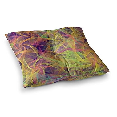 East Urban Home Blend Everywhere Abstract by Danny Ivan Floor Pillow; 23'' x 23''