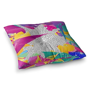 East Urban Home 80's Abstract by Danny Ivan Floor Pillow; 23'' x 23''