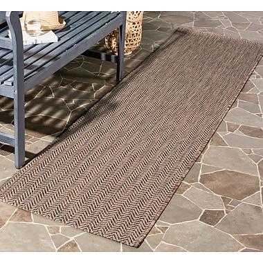Ebern Designs Mullen Brown / Beige Area Rug; 6'7'' x 9'6''