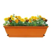 Misco Home and Garden 24'' Self-Watering Window Box Planter (Set of 2); Clay