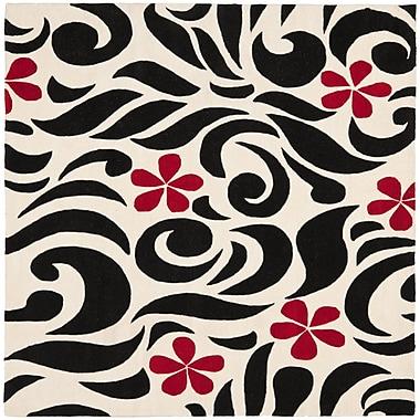 Ebern Designs Chidi Wool Area Rug; Square 6'