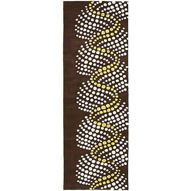 Ebern Designs Chidi Brown/Beige Area Rug; Runner 2'6'' x 8'