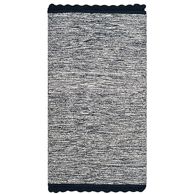 Gracie Oaks Mohnton Hand-Woven Navy/Gray Area Rug; Runner 2'3'' x 7'