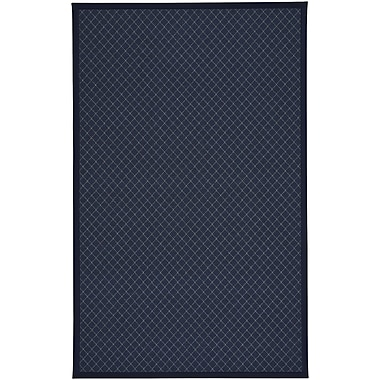 Gracie Oaks Shiva Dark Blue Indoor/Outdoor Area Rug; 2'4'' x 3'6''