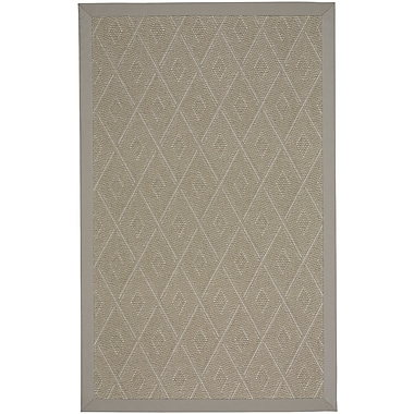Union Rustic Gresham Braided Tan Buff Indoor/Outdoor Area Rug; 12' x 15'