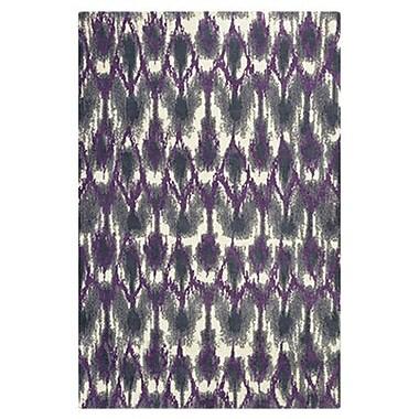 Varick Gallery Gramercy Park Horizon Grey & Purple Area Rug; 7'7'' x 10'10''