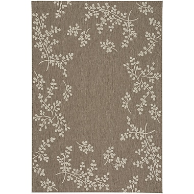 August Grove Jacqueline Winterberry Wheat Outdoor Area Rug; 3'11'' x 5'6''