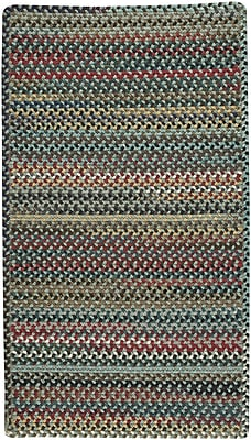 August Grove Heidi Braided Wool Leaf Green Area Rug; Square 8'6''