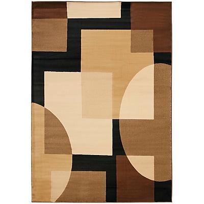 Ebern Designs Charis Brown Geometric Area Rug; 8' x 11'2''