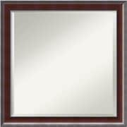 Darby Home Co Wagner Square Walnut Wood Wall Mirror
