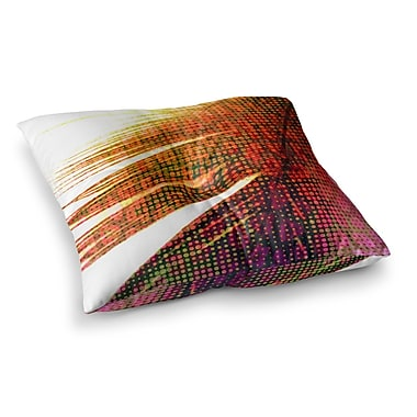 East Urban Home Feather Pop by Alison Coxon Floor Pillow; 23'' x 23''