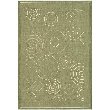 Ebern Designs Mullen Olive Outdoor Area Rug; 4' x 5'7''