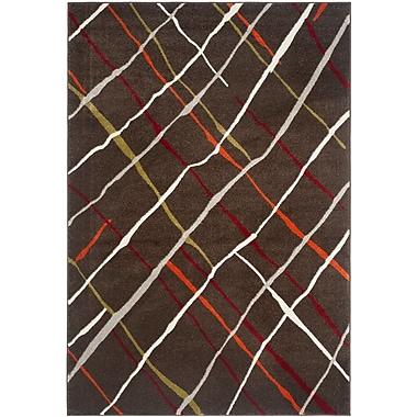 Ebern Designs Charis Brown / Multi Contemporary Rug; 5'3'' x 7'7''