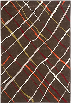 Ebern Designs Charis Brown / Multi Contemporary Rug; 6'7'' x 9'6''