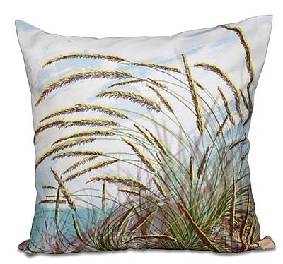 Highland Dunes Boubacar Ocean Breeze Floral Print Outdoor Throw Pillow; 20'' H x 20'' W
