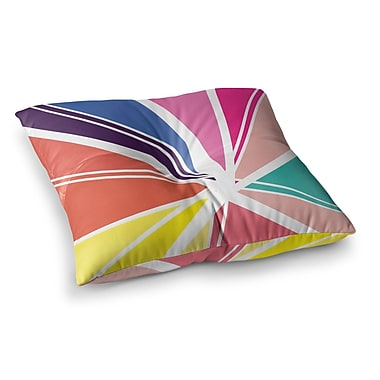 East Urban Home Boldly Bright by Belinda Gillies Floor Pillow; 26'' x 26''