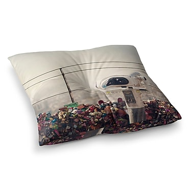 East Urban Home The View Seoul by Catherine McDonald Floor Pillow; 23'' x 23''