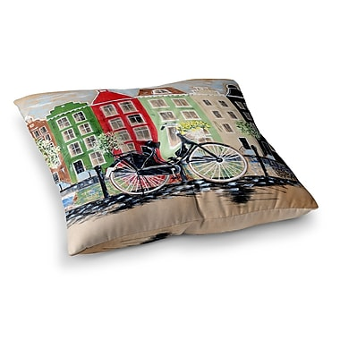 East Urban Home Bicycle by Christen Treat Floor Pillow; 26'' x 26''