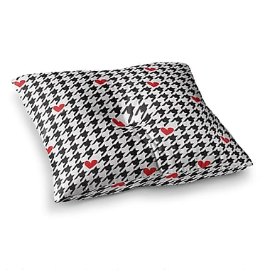 East Urban Home Spacey Houndstooth Heart by Empire Ruhl Floor Pillow; 23'' x 23''