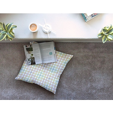 East Urban Home Pastel Houndstooth by Empire Ruhl Floor Pillow; 26'' x 26''