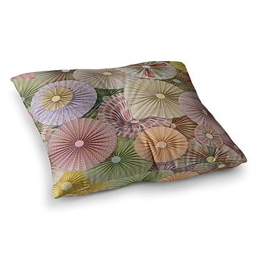 East Urban Home Spring Pastels Abstract by Heidi Jennings Floor Pillow; 26'' x 26''