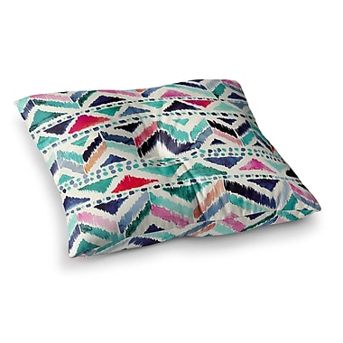 East Urban Home Celestial Tribal Stripe Chevron by Crystal Walen Floor Pillow; 26'' x 26''