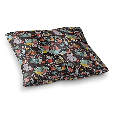 East Urban Home At Home by Akwaflorell Floor Pillow; 23'' x 23''