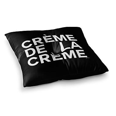 East Urban Home Creme De La Creme by Geordanna Cordero-Fields Floor Pillow; 26'' x 26''