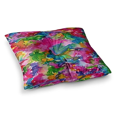 East Urban Home Summer Swirls by Ebi Emporium Floor Pillow; 23'' x 23''