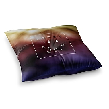 East Urban Home Good Day by Galaxy Eyes Floor Pillow; 26'' x 26''