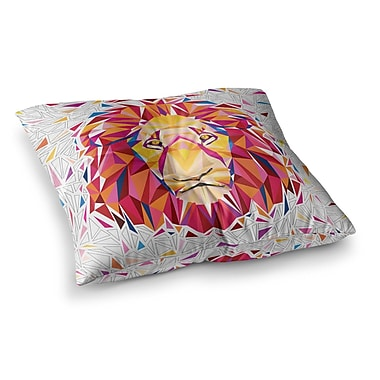 East Urban Home Rainbow Lion Digital by Ancello Floor Pillow; 23'' x 23''