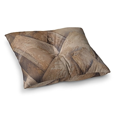 East Urban Home Tropical Texture Photography by Ann Barnes Floor Pillow; 23'' x 23''