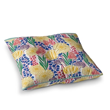 East Urban Home Pretty Bouquet Floral by Amy Reber Floor Pillow; 23'' x 23''