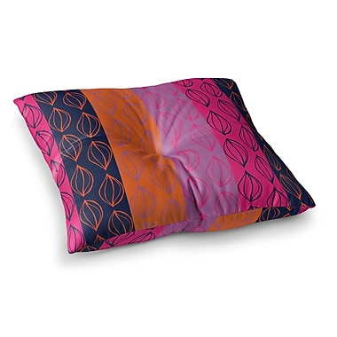 East Urban Home Tropical Seeds by Anneline Sophia Floor Pillow; 26'' x 26''