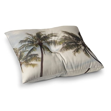 East Urban Home Boho Palms Trees by Catherine McDonald Floor Pillow; 23'' x 23''
