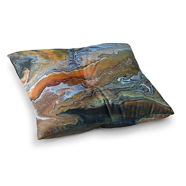 East Urban Home Geologic Veins by Carol Schiff Floor Pillow; 23'' x 23''