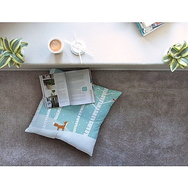 East Urban Home Fox Cardinals Winter Kids by Cristina bianco Design Floor Pillow; 26'' x 26''