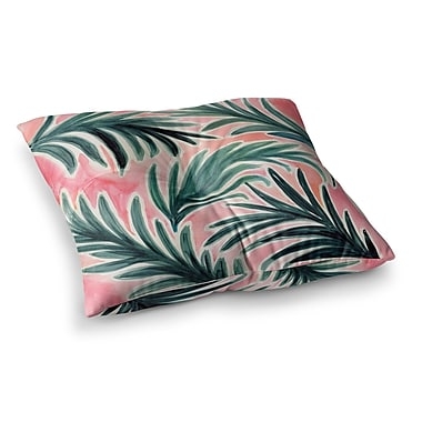 East Urban Home Lush Palm Leaves by Crystal Walen Floor Pillow; 26'' x 26''
