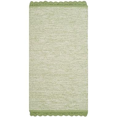 Gracie Oaks Mohnton Hand-Woven Green/Gray Area Rug; 3' x 5'