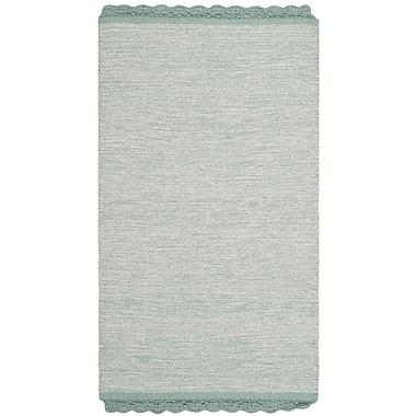Gracie Oaks Mohnton Hand-Woven Light Blue/Gray Area Rug; 8' x 10'