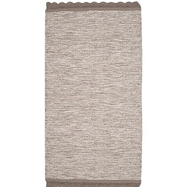 Gracie Oaks Mohnton Hand-Woven Gray Area Rug; Runner 2'3'' x 7'