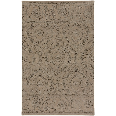 One Allium Way Oxley Hand-Tufted Wool Brown Area Rug; 5' x 8'
