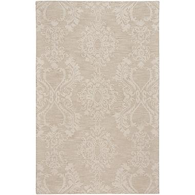 One Allium Way Oyer Hand-Tufted Wool Beige Area Rug; 5' x 8'