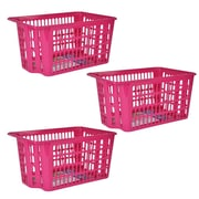 Rebrilliant Stackable Basket (Set of 3); Pink