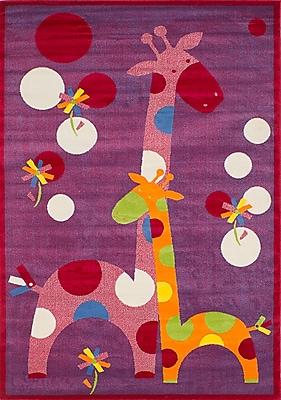Zoomie Kids Luann Red Giraffe Area Rug