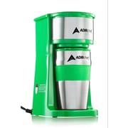 AdirChef Grab and Go Personal Coffee Maker w/ 15 oz. Travel Mug; Green