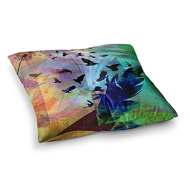 East Urban Home Not Quite Birds of a Feather by Alyzen Moonshadow Floor Pillow; 23'' x 23''