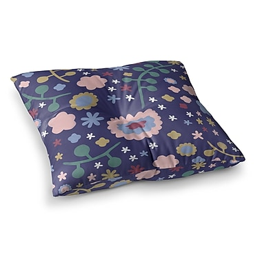 East Urban Home Night Floral Nature by Alik Arzoumanian Floor Pillow; 23'' x 23''