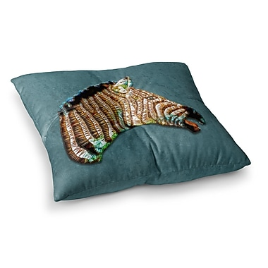 East Urban Home Laughing Zebra by Ancello Floor Pillow; 26'' x 26''